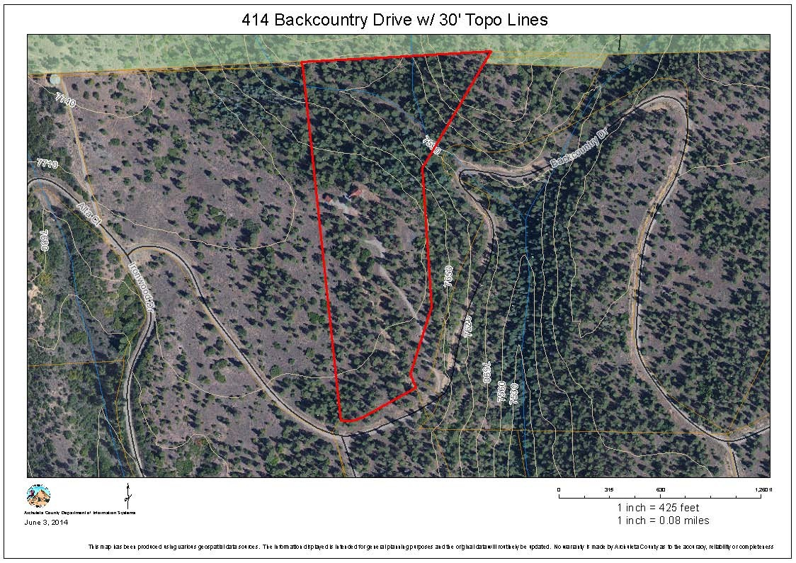 414 Backcountry Drive With 30′ Topo Lines